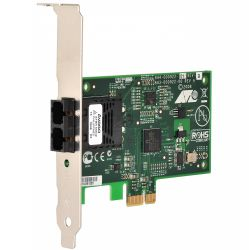 AT-2711FX/SC-001, Allied Telesis 100Mbps Fast Ethernet PCI-Express Fiber Adapter Card; SC connector, includes both standard and low profile brackets, Single pack