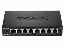 DES-1008D/K2A, D-Link DES-1008D, 8-port UTP 10/100Mbps Auto-sensing, Stand-alone, Unmanaged, 1K MAC addresses (Metal case)