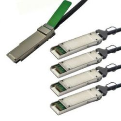 QSFP-4XFP-CU1M=, Кабель Cisco QSFP+ Cable QSFP-4XFP-CU1M 40GBASE-CR4 QSFP+ to 4 10GBASE-CU XFP passive direct-attach copper transceiver assembly, 1 meter