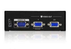 VS132A, 2 PORT VIDEO SPLITTER W/230V ADP