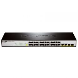 DES-1100-26, D-Link DES-1100-26, EasySmart switch 24 ports 10/100Mbps and Combo 10/100/1000BASE-T/SFP